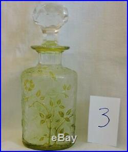Flacon En Cristal De Baccarat Eglantier Jaune 14.5 CM N° 3