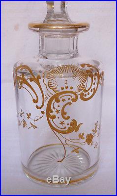 Flacon de toilette / à parfum en CRISTAL DE BACCARAT, modèle Louis XV 14cm