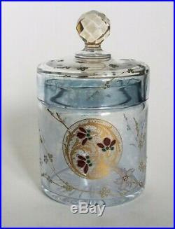 Garniture de Toilette en cristal Baccarat. Decor japonisant 1880. Qualité Musée
