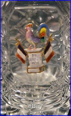 Gobelet en cristal de Baccarat orné dun paillon dor émaillé 1830