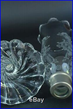Grand Photophore ancien art deco Bougeoir en Cristal de Baccarat Lamp Glass