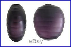 Grand Vase Dlg Dahlskog Sweden Purple Glass Daum Baccarat Murano Era