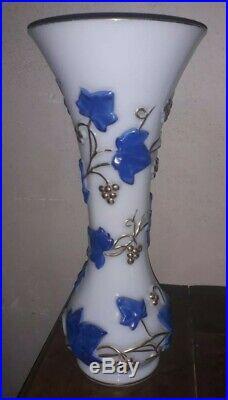 Grand Vase opaline de baccarat Hauteur 35 cm