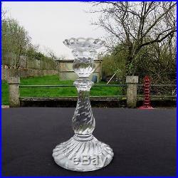 Grand bougeoir chandelier en cristal de baccarat modèle bambou torse signé