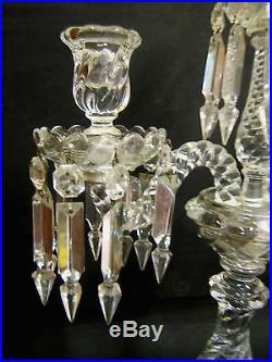 Important Chandelier Bougeoir Cristal De Baccarat 56 CM Decor Bambou 3 Branches