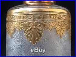 LAMPE BERGER Cristal BACCARAT Palmettes or gravé acide no St Louis
