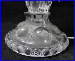 Lampe En Cristal A Pampilles Annees 30 40 Dans L'esprit Baccarat B2079