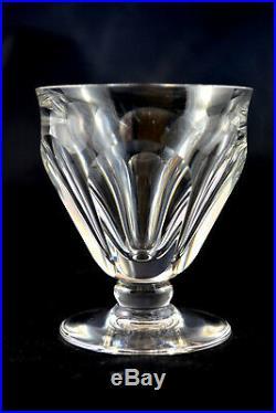 Lot De 9 Verres A Vin Blanc En Cristal De Baccarat Talleyrand