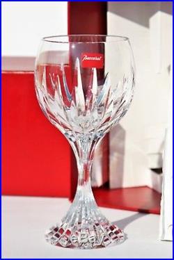 Lot de 2 verres à vin de Bourgogne en cristal de Baccarat Massena NEUFS + boîtes