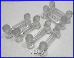 Lot de 6 porte couteau cristal BACCARAT têtes d'enfants bébés