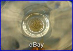 Lot de 6 verres colorés à vin du Rhin en cristal de Baccarat modèle lavandou