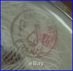 Magnif Sulfure Ancien En Cristal De Baccarat Signe Et Date De 1968
