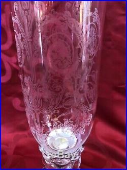 Magnifique Paire De Photophores En Cristal Maison Baccarat Modèle Bambou
