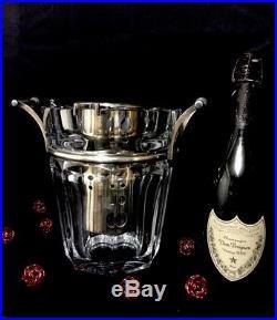 Magnifique Seau À Champagne Baccarat Modèle Harcourt Moulin Rouge