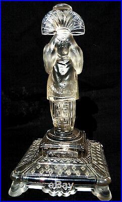 Magnifique statue 1900 Geisha par baccarat, era daum lalique vase galle