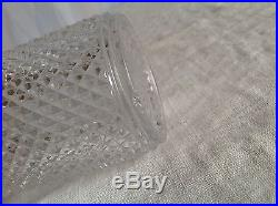 Maison BACCARAT 3 flacons de toilette décor pointes de diamants Verre cristallin