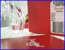 Masséna Baccarat cristal 6 verres à vin rouge N°3 Bourgogne. Coffret individuel