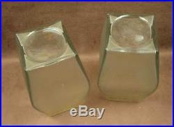 Paire D'importants Vases En Verre Givre A L'acide Baccarat Art Nouveau