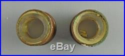Paire de Baccarat Médaillon Main Peint Simple Léger Chandeliers Bobeche&prisms