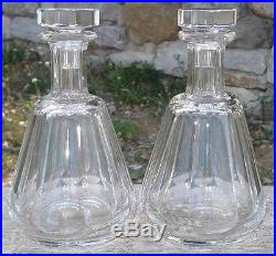 Paire de Carafes en cristal de Baccarat modèle Talleyrand