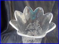Photophore cristal Baccarat modèle Bambou flambeau bougeoir Baccarat France