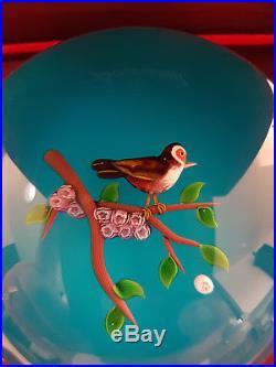 Presse Papier Sulfure Paperweight Oiseau Chardonneret Baccarat