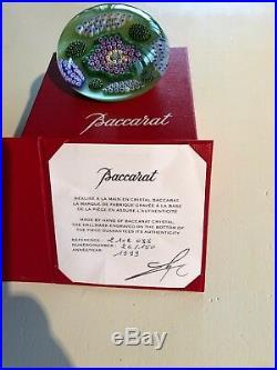 Presse papiers sulfure en cristal Chenonceau signé Baccarat