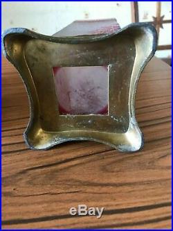 RARE vase art nouveau BACCARAT monture bronze. Era galle daum escalier cristal