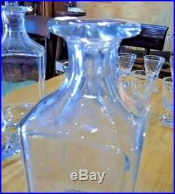 Rare 4 Carafes + 12 Verres Cristal De Baccarat Cave A Liqueur
