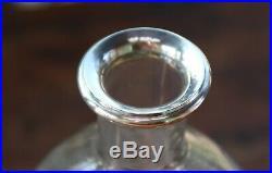 Rare Cristal de Baccarat Rohan Ancienne carafe col orné bague argent Minerve