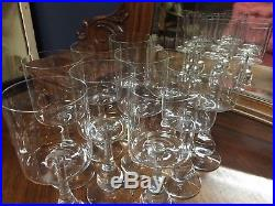 Rare Serie De 10 Verres A Vin Cristal Baccarat Modele Jose