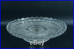 Rare coupe a fruits centre de table cristal guilloché signe baccarat 1900