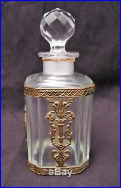 Rare flacon à parfum ASTRIS maison Pivert cristal Baccarat époque 1910-1920