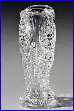 Rare vase Koï en cristal de Baccarat design Emile Gallé fin XIXème, Art Nouveau