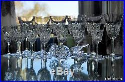 ST LOUIS 6 verre à VIN en cristal signée crystal glasses (BACCARAT)