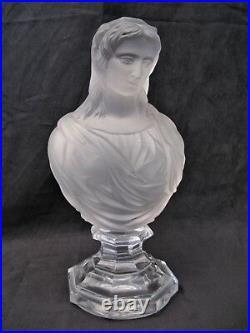 Sculpture cristal signée Baccarat buste de femme époque XX ème siècle