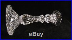 Série de 4 flambeaux bougeoirs en cristal de Baccarat modèle Bambou Tors