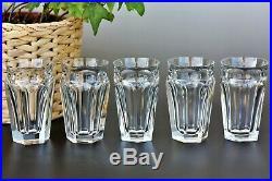 Série de 5 verres à whisky highball en cristal de Baccarat modèle Talleyrand