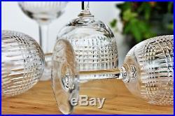 Série de 6 verres à eau n°2 en cristal de Baccarat modèle Nancy
