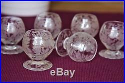 Série de 6 verres à liqueur en cristal de Baccarat modèle Fontenay