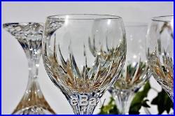 Série de 6 verres à vin de Bordeaux n°4 en cristal de Baccarat modèle Massena