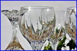 Série de 6 verres à vin de Bourgogne n°3 en cristal de Baccarat modèle Massena