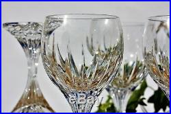 Série de 6 verres à vin n°3 en cristal de Baccarat modèle Massena