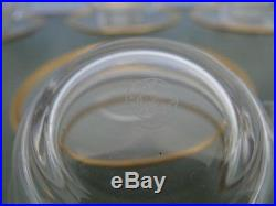 Série de tasses sous tasses cristal Baccarat