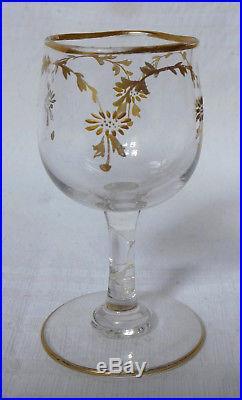 Service à liqueur en CRISTAL DE BACCARAT DORE à l'or fin, fin XIXe siècle