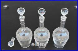 Service à liqueur en cristal de Baccarat incomplet