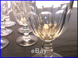 Service cristal Taillé BACCARAT XIXème Modèle Gondole côtes plates 20 Pièces