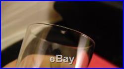 Service de 10 gobelets en cristal de Baccarat modèle Richelieu / grain d'orges