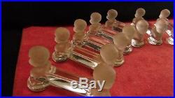 Service de 10 porte couteaux en cristal de Baccarat modèle Bébé Boudeur Houdon