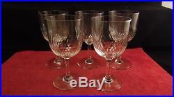 Service de 5 verres à eau en cristal de Baccarat modèle Richelieu